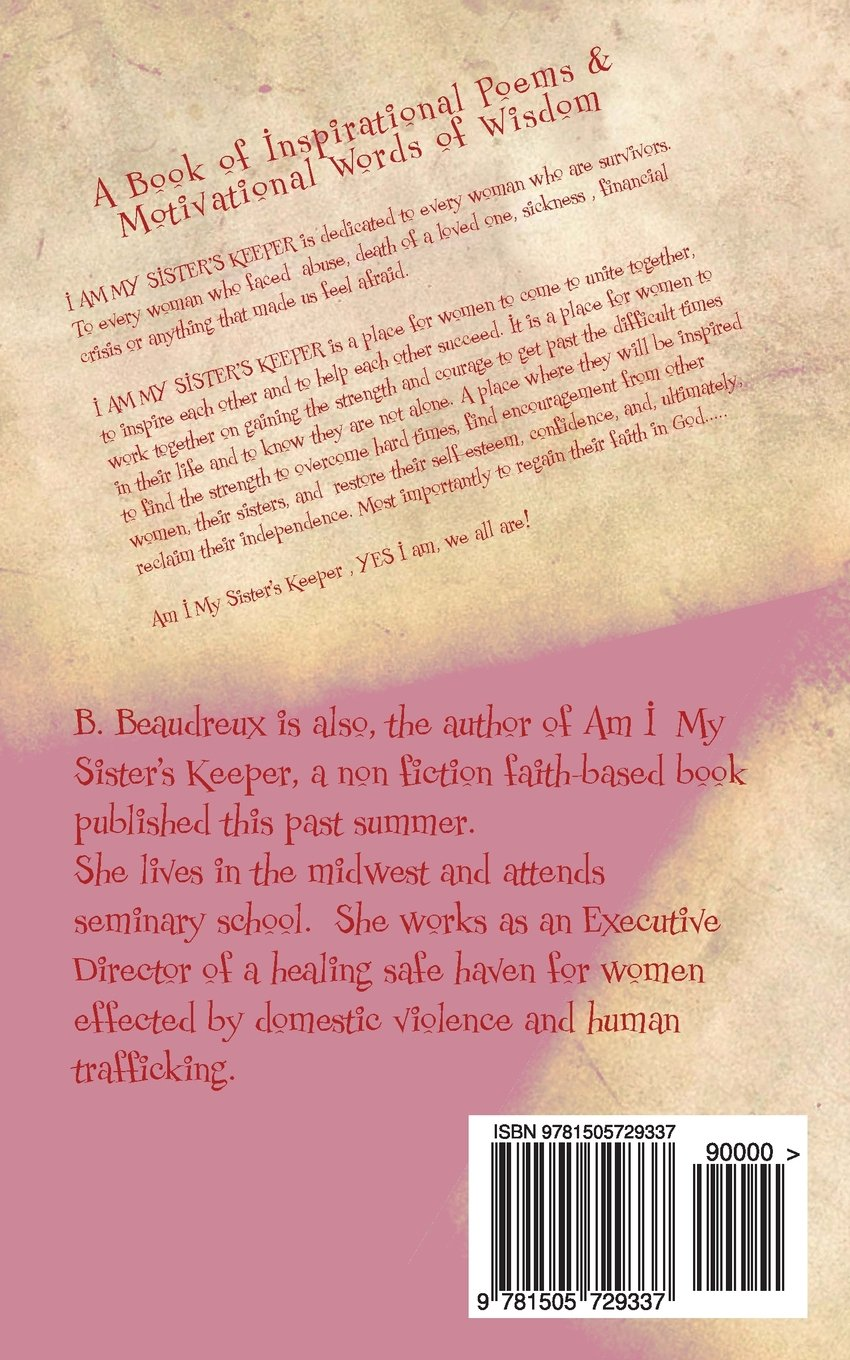 Amazon com: I Am My Sister's Keeper: A Book of Inspirational