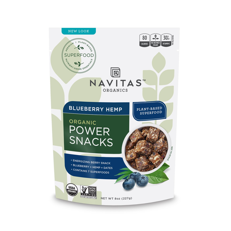 Navitas Organics Blueberry Hemp Superfood Power Snack, 8 oz. Bag, 11 Servings