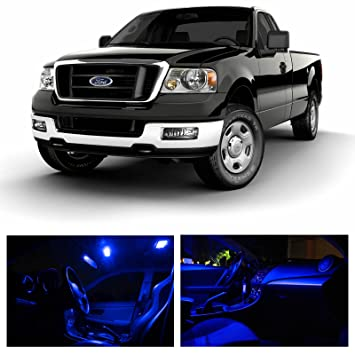 LEDpartsNow Ford F 150 F150 2004 2008 Blue Premium LED Interior Lights  Package Kit