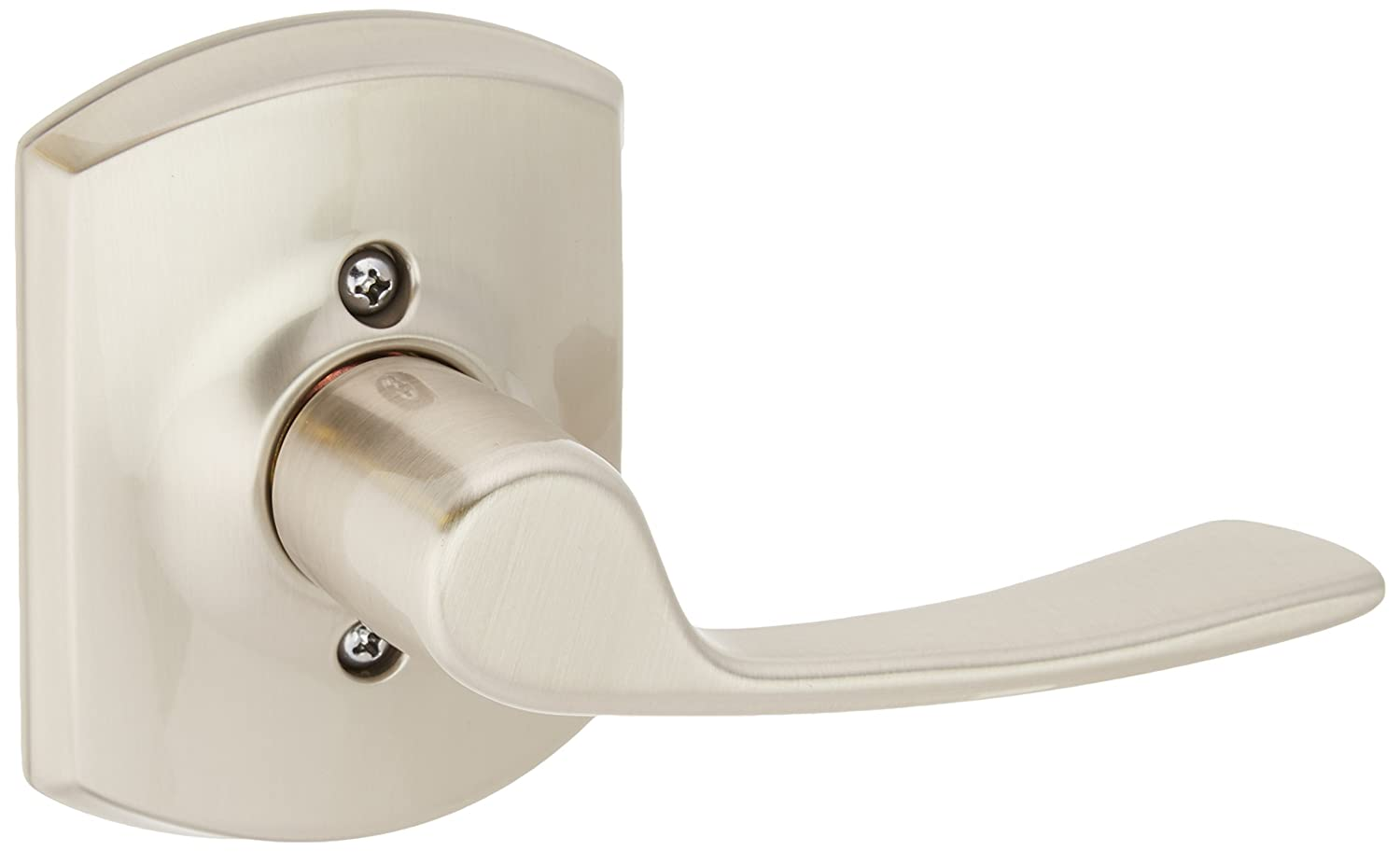 Satin Nickel Schlage Lock Company F170MER619GRWLH Merano Left Handed Single Dummy Door Lever with Decorati