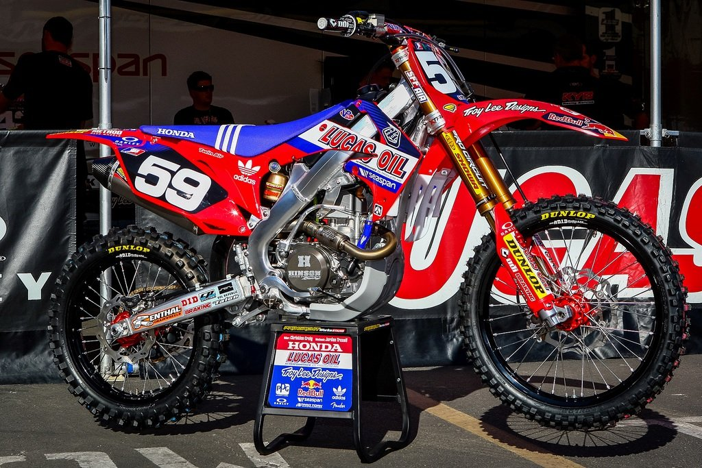 Enjoy MFG 2013-14 CRF 110 Troy Lee Designs Lucas Oil Graphics Kit