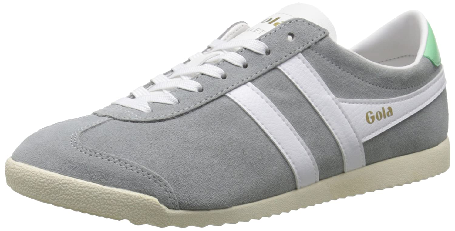 Gola Women's Bullet Suede Fashion Sneaker B015O7583C 7 B(M) US|Grey/White