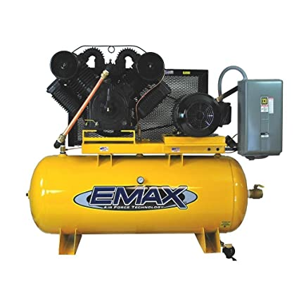 Amazon.com: 20 HP Air Compressor, 2-Stage, Horizontal, Industrial Plus Series, Model EP20H120V3 by EMAX Compressor: Home Improvement