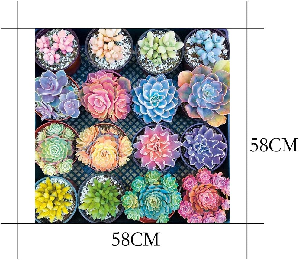 1000 Pieces 1.5 mm Jigsaw Puzzles for Adults Succulent Plants Pattern Adult Children Puzzle Intellective Educational Toy Puzzle