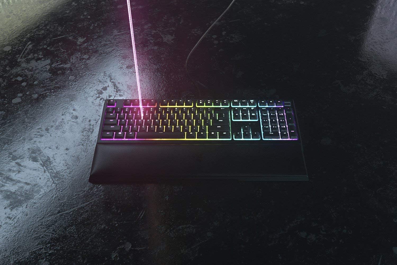 Razer Ornata V2 - Teclado Gaming, Teclado de membrana mecánica con Iluminación Razer Chroma RGB, Switch Mecánico, US Layout, Color Negro