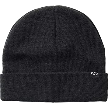 low priced 041aa aabe9 Fox Machinist Beanie Hat - Black, One Size Universal Uni Sized Headwear Head  Cap