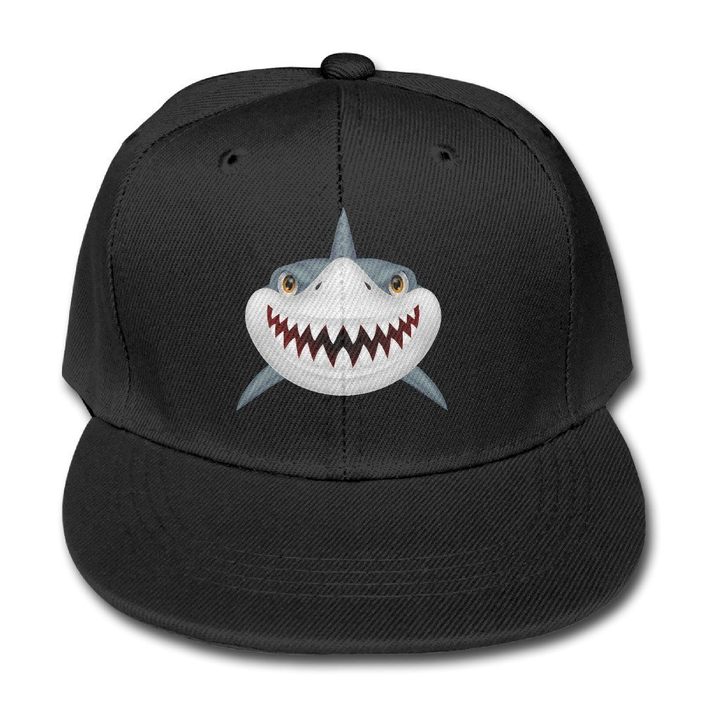 Fashion Scary Shark Fierce Boys & Girls Adjustable Flat Brim Baseball Cap