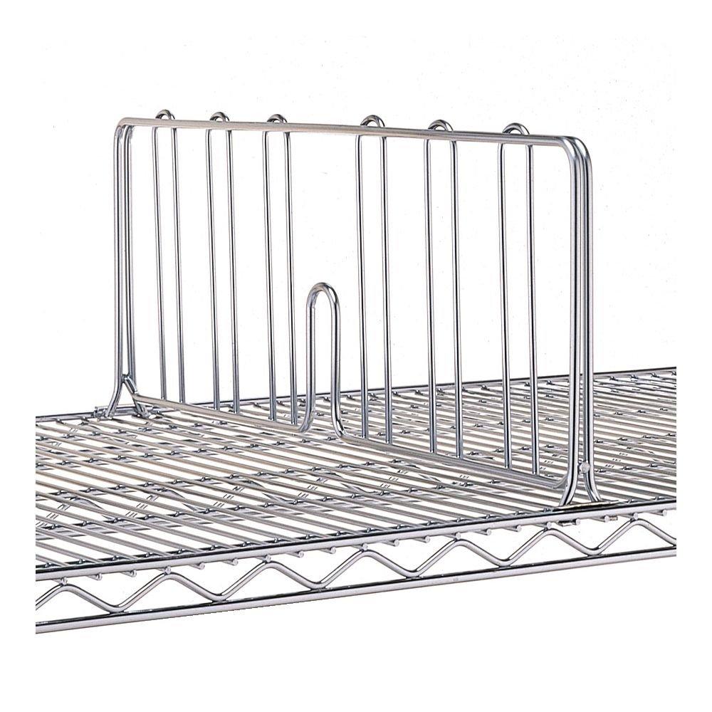 Metro DD18C Super Erecta Chrome Plated Shelf Divider, 18'' Width x 8'' Height