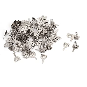 30 Batterie Kontakt Batteriefeder Metall Silber für AA Batterien ED