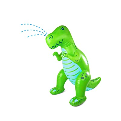 BigMouth Inc. Ginormous Inflatable Dinosaur Yard Summer Sprinkler, Stands Over 6 Feet Tall, Perfect Dinosaur for Summer Fun: Toys & Games