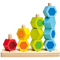 Hape Counting Stacker Toddler Toy, Multicolor (E0504B)