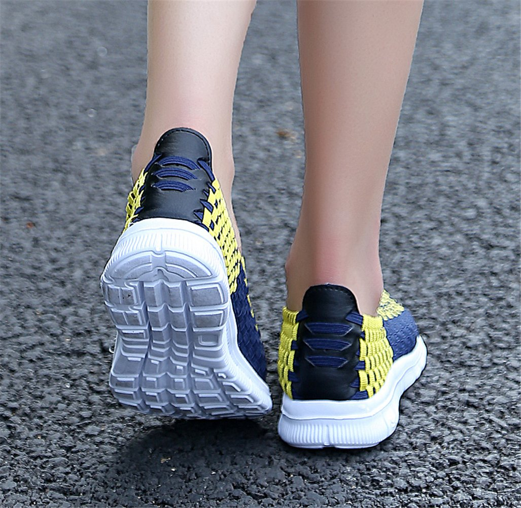 YMY Women's Woven Sneakers Casual Lightweight Sneakers - Breathable Running Shoes B07DXQDSJW US B(M) 9 Women|Yellow1