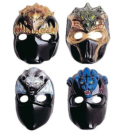 Máscara Animal Ninja De Plástico- Surtidas En 4 Modelos ...