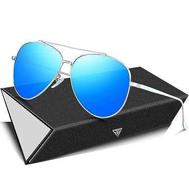 SIPLION Gafas de sol hombre Gafas de aviador polarizadas ...