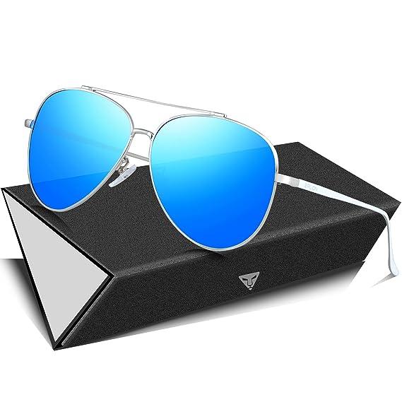 SIPLION Herren Pilotenbrille Polarisierte Sonnenbrille