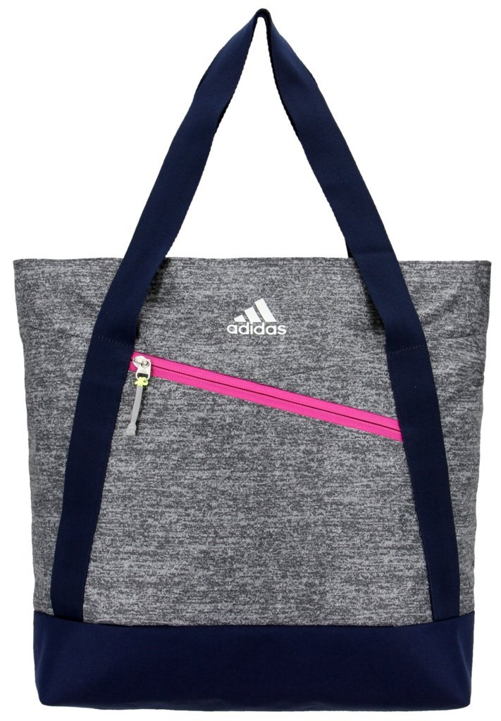 adidas Squad Tote Bag, Onix Jersey/Collegiate Blue/Bahia Magenta/Frozen Yellow, One Size