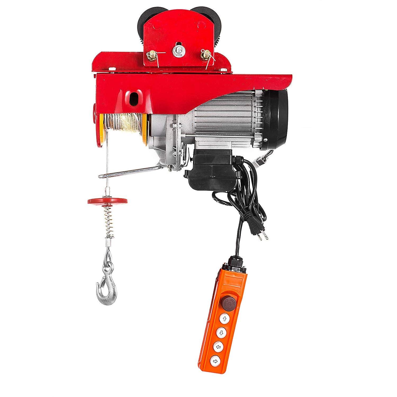 con Carro El/éctrico de 0,5T Mophorn Polipasto El/éctrico de 300kg 660lb 1100lb 220V Rojo