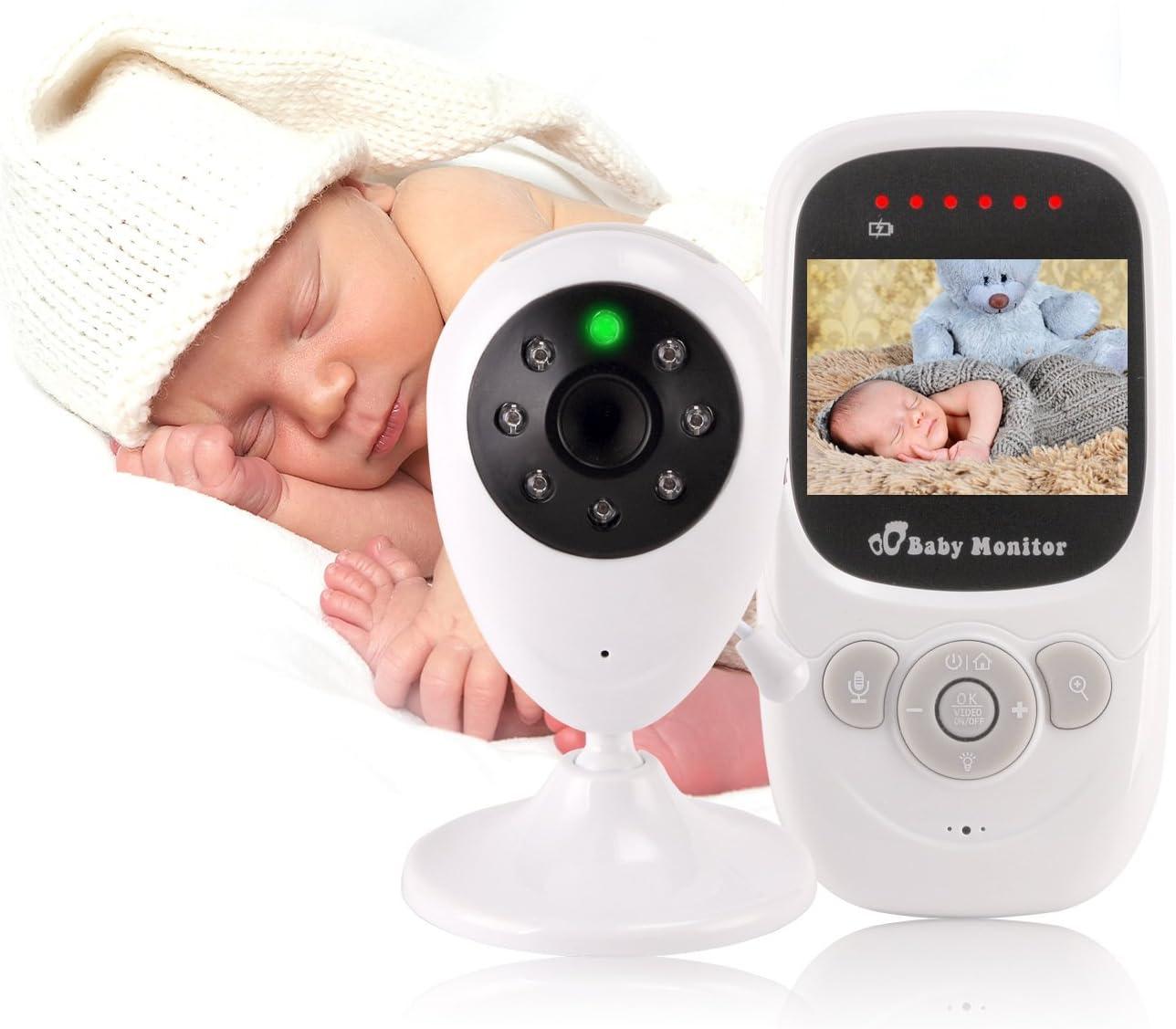 Monitor de bebé Cámara inalámbrica Infrarrojo Visión Nocturna Visión Nocturna Monitoreo de la Temperatura y Sistema de intercomunicación bidireccional Alcance 15-200 Metros