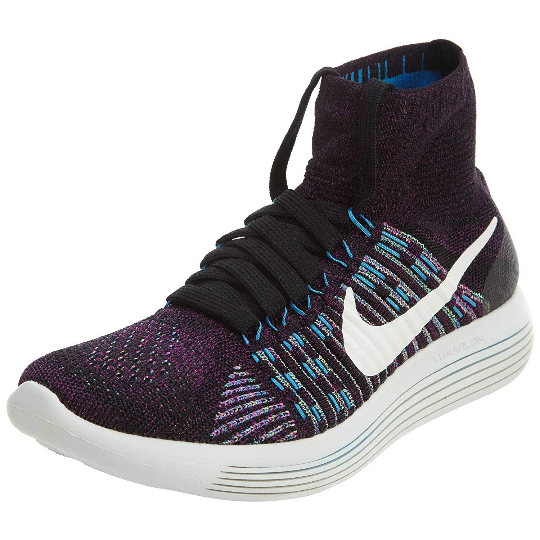 best website 4136c c0a60 Galleon - NIKE Women s Lunarepic Flyknit Running Shoes (10 M US,  Black Summit White-fire Pink)