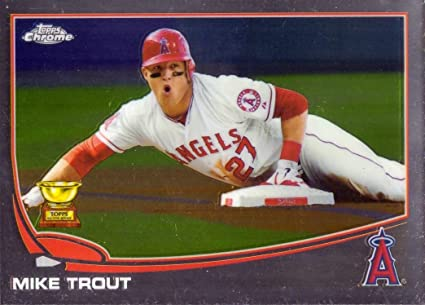2013 Topps Chrome 1 Mike Trout Baseball Card Topps All Star Rookie