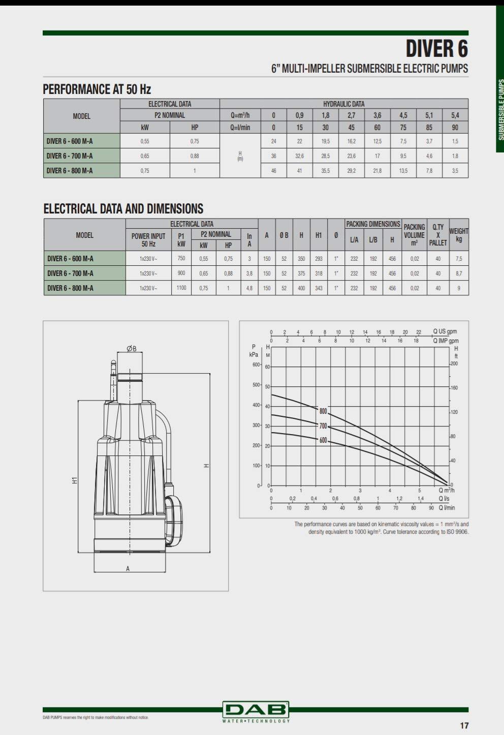 Elettropompa Dab diver 6-700
