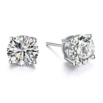 9900836804c9 ... hipoalergénicos de plata de ley 925 con circonita cúbica en forma de  Swarovski Stud Pendientes Simulado diamante joyas para ella  Amazon.es   Joyería