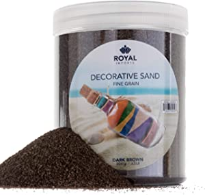 Royal Imports 4.5 LBS Colored Decorative Beach Sand for Vase Filler, Wedding, Home Décor, Crafts and Therapy Play, Brown
