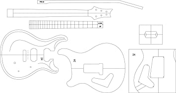 Amazoncom Electric Guitar Routing Template PRS Musical - Guitar routing templates