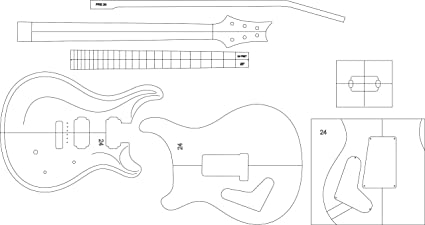 amazon com electric guitar routing template prs24 musical