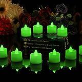 PK Green Green Flameless Candles Set of 12