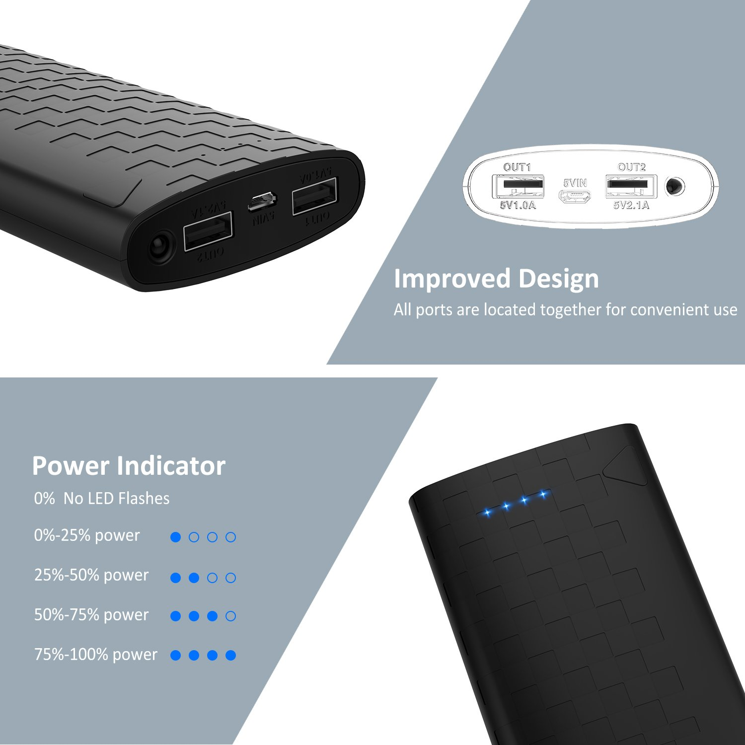 sipu power bank 20000mah portable charger phone charger external rh amazon co uk