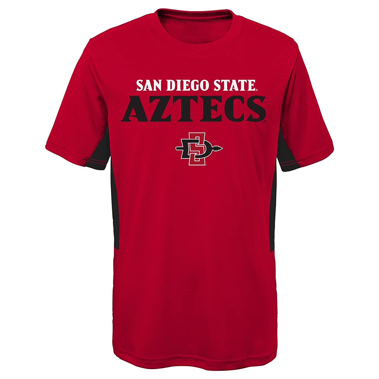 Youth Small 8 NCAA by Outerstuff NCAA San Diego State Aztecs Youth Boys Mainframe: Short Sleeve Performance Top Dark Red
