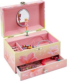 JewelKeeper Music Jewelry Box with Pullout Drawer, Jewel Storage Case, Swan Lake Tune