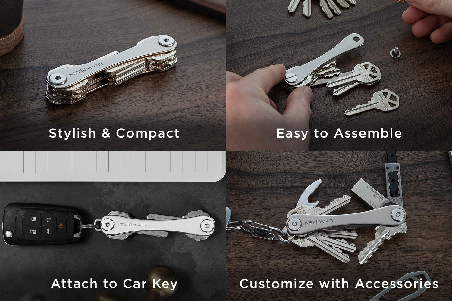 Amazon.com: KeySmart - Compact Key Holder (Titanium): Office ...