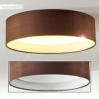 Runde LED Deckenleuchte   Moderne Lampe Für Das Wohnzimmer Mit Stoffschirm  In Weiß   Deckenlampe