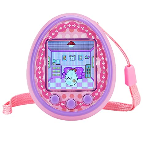 Fantasy Kids Virtual Pet Game Machine Electronic controler Toys-(2019 HD  Color Screen,Wireless Interaction,USB Rechargeable,Over 30 Kinds of