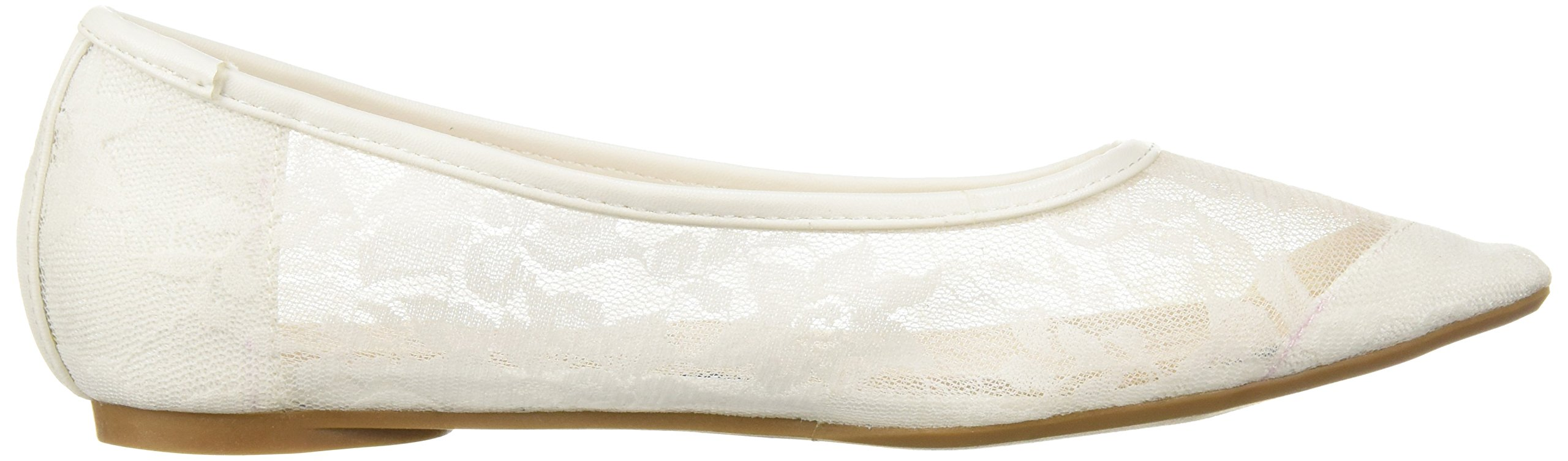 Penny Loves Kenny Women's Knot FL Ballet Flat, White Lace, 9 Medium US by Penny Loves Kenny (Image #6)