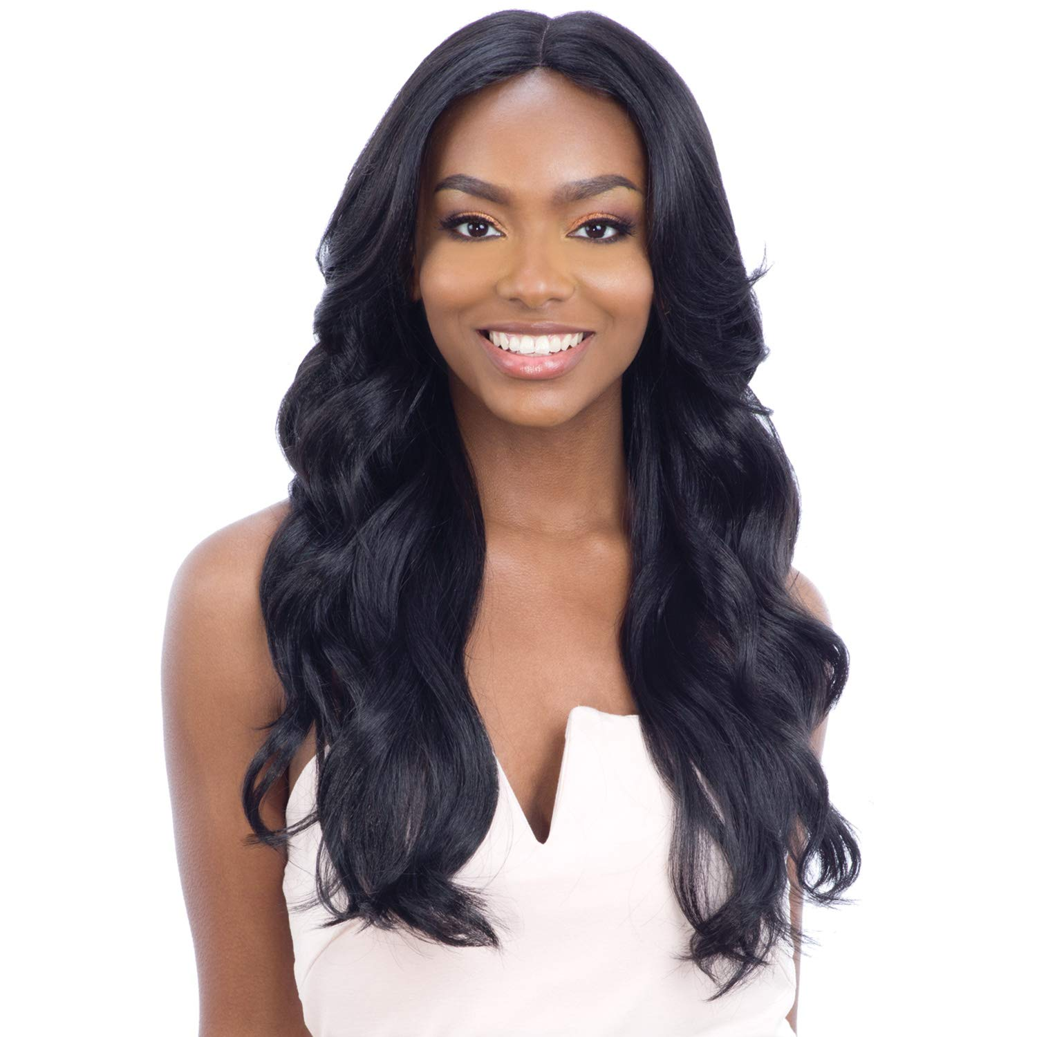 Freetress Equal Synthetic Hair 5 Inch Lace Part Wig for Black Women - VIVIA (1B)