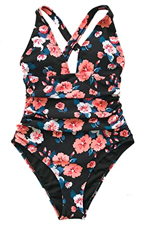 2171e6bf9a5 CUPSHE Womem's Flashing Spray Print One-Piece Swimsuit Bathing Suit