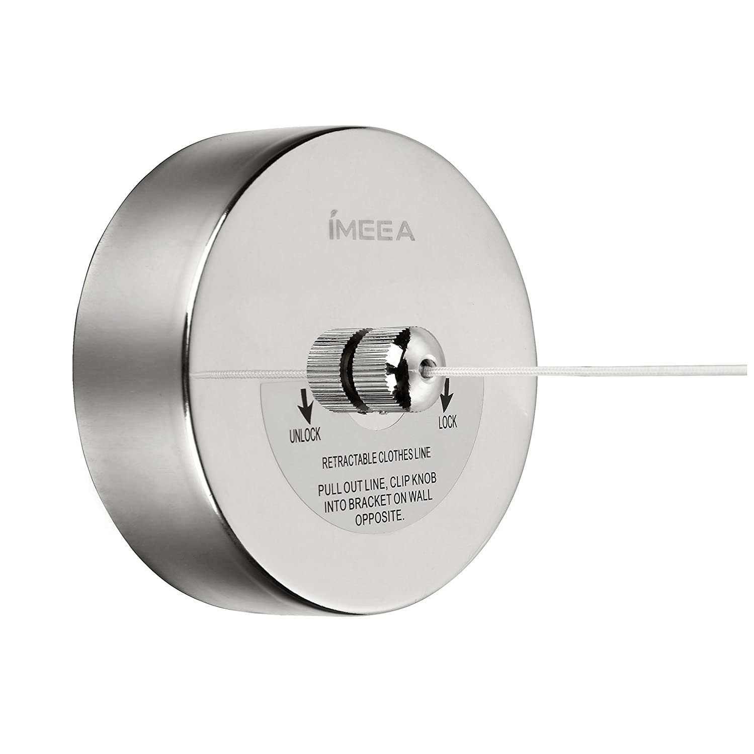 Amazon.com: IMEEA 8.2 Feet Length Premium Solid 18/10 Stainless Steel Retractable  Clothesline With Copper Pull Head (Screw Driver Included): Home U0026 Kitchen