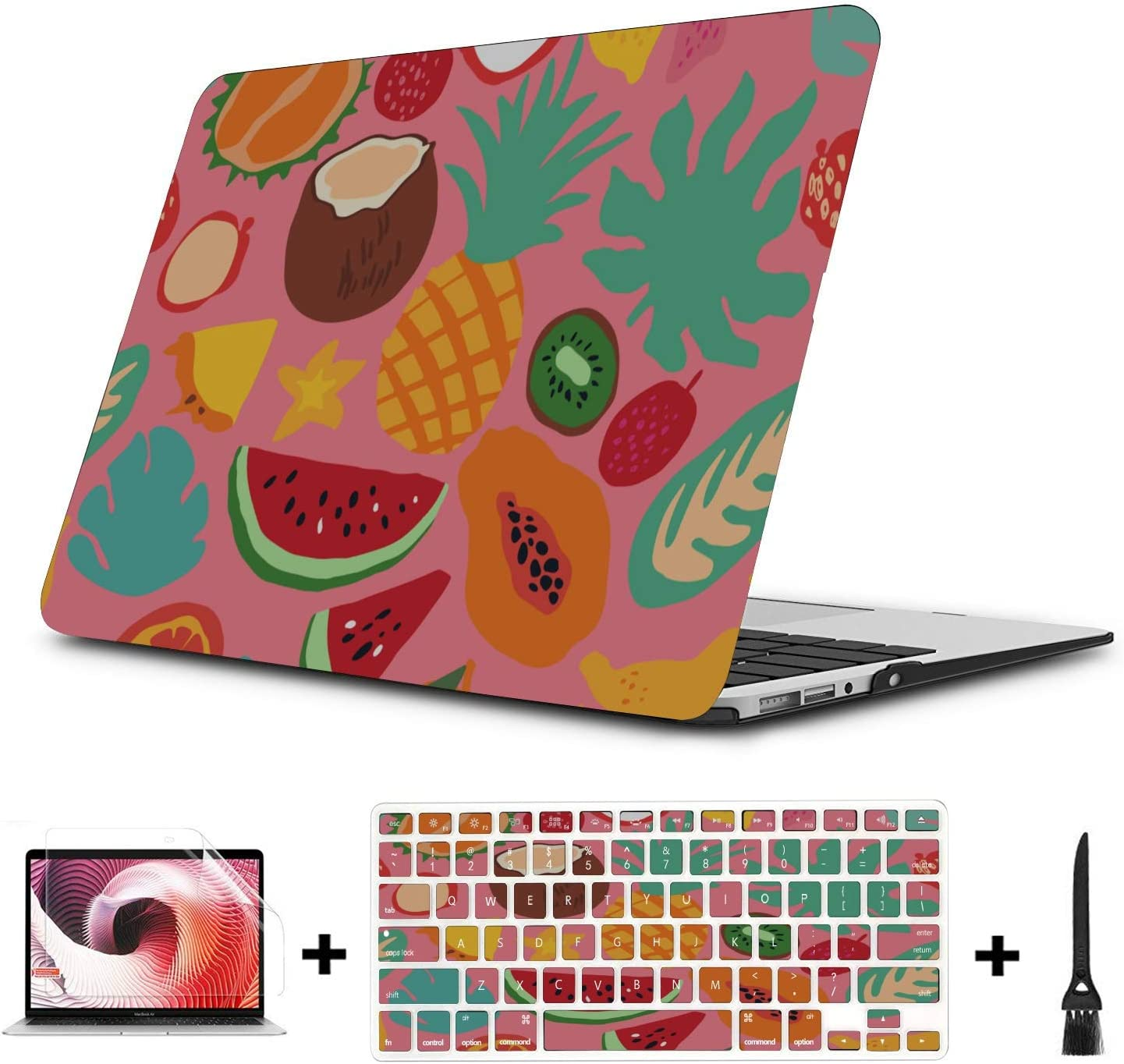 MacBook Case Summer Fashion Cool Fruit Papaya Plastic Hard Shell Compatible Mac Air 11 Pro 13 15 Laptop Hard Cover Protection for MacBook 2016-2019 Version