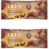 Lily's Dark Chocolate Chips- 1x9 OZ,Set of 2