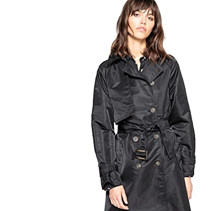 de0153a2691 Amazon.com  La Redoute Collections Womens Oversized Trench Coat Nbsp  Black  Size US 4 - FR 34  Home   Kitchen