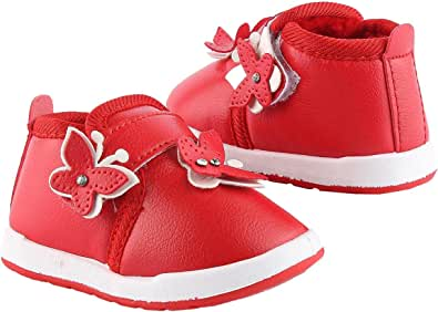 Casual Faux Leather Sneakers For Girls