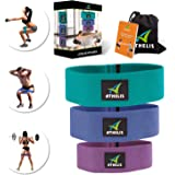 ATHELIS Hip Band Circle | Thick Booty Resistance Loops for Women & Men, Workout Guide & Bag- Made of Special Non-Slip Cotton, Ideal for Glutes Legs & Thighs