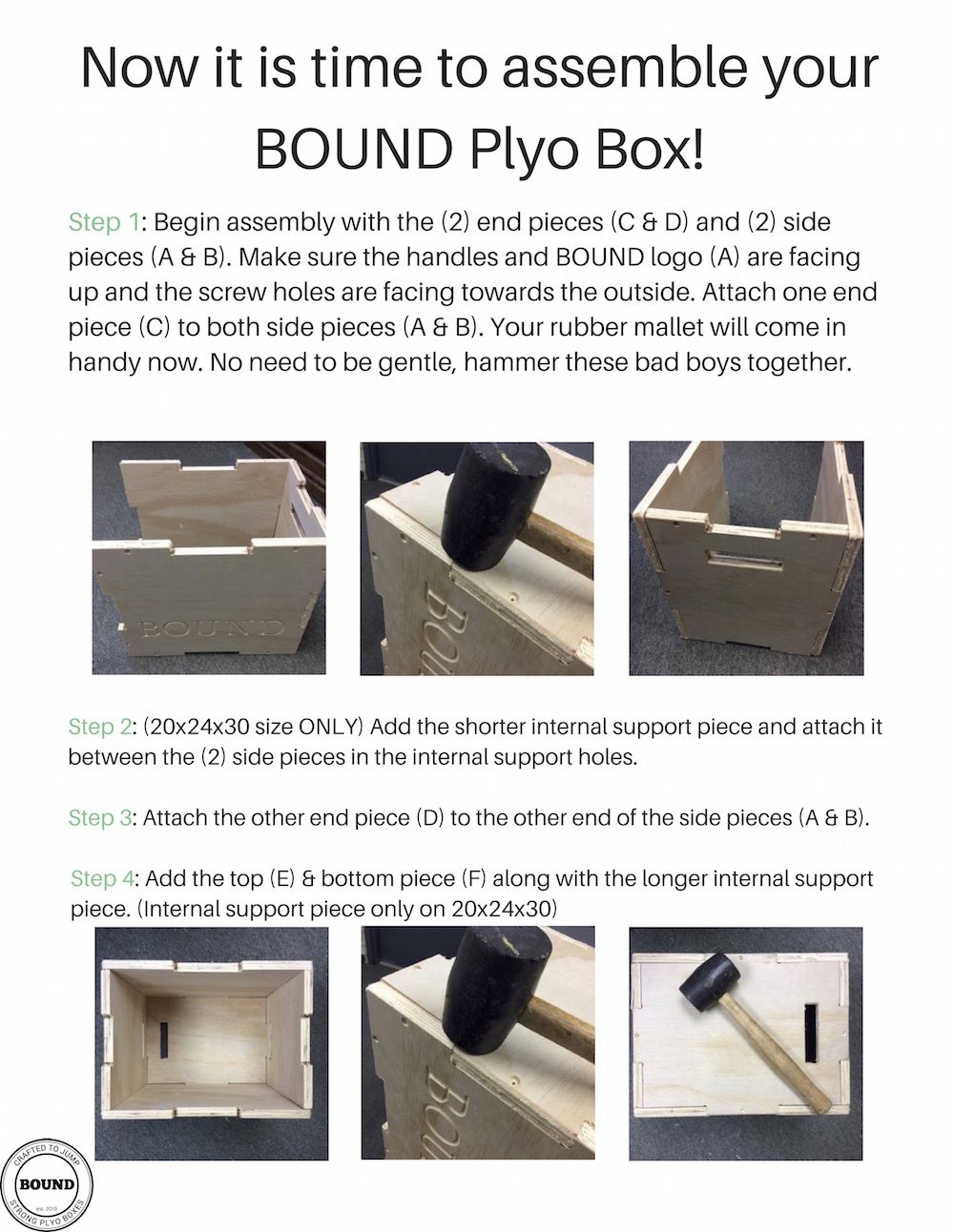 (20/24/30) Bound Plyo Box 3-in-1 Wood Puzzle Plyometric Box - CrossFit Training, MMA, or Plyometric Agility - Jump Box, Plyobox, Plyo Box, Plyometric Box, Plyometrics Box by BOUND Plyo Box (Image #6)
