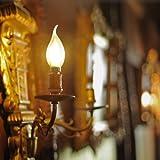 Aglaia Ampoule LED E14, Lot de 2 Ampoules de Filament, 3.5 Watts Consommés Equivalence Incandescence 40W, 2700K Blanc Chaud et 430LM, Angle de Faisceau 360°