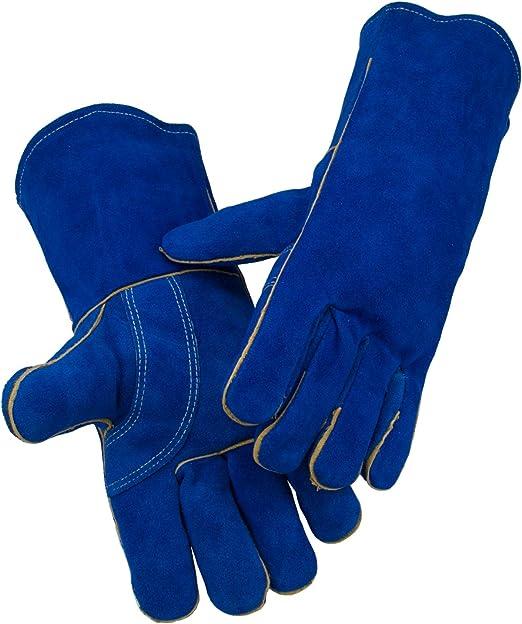 Heavy Duty Split Leather Welding Glove Long Cuff Welder Protective Gloves