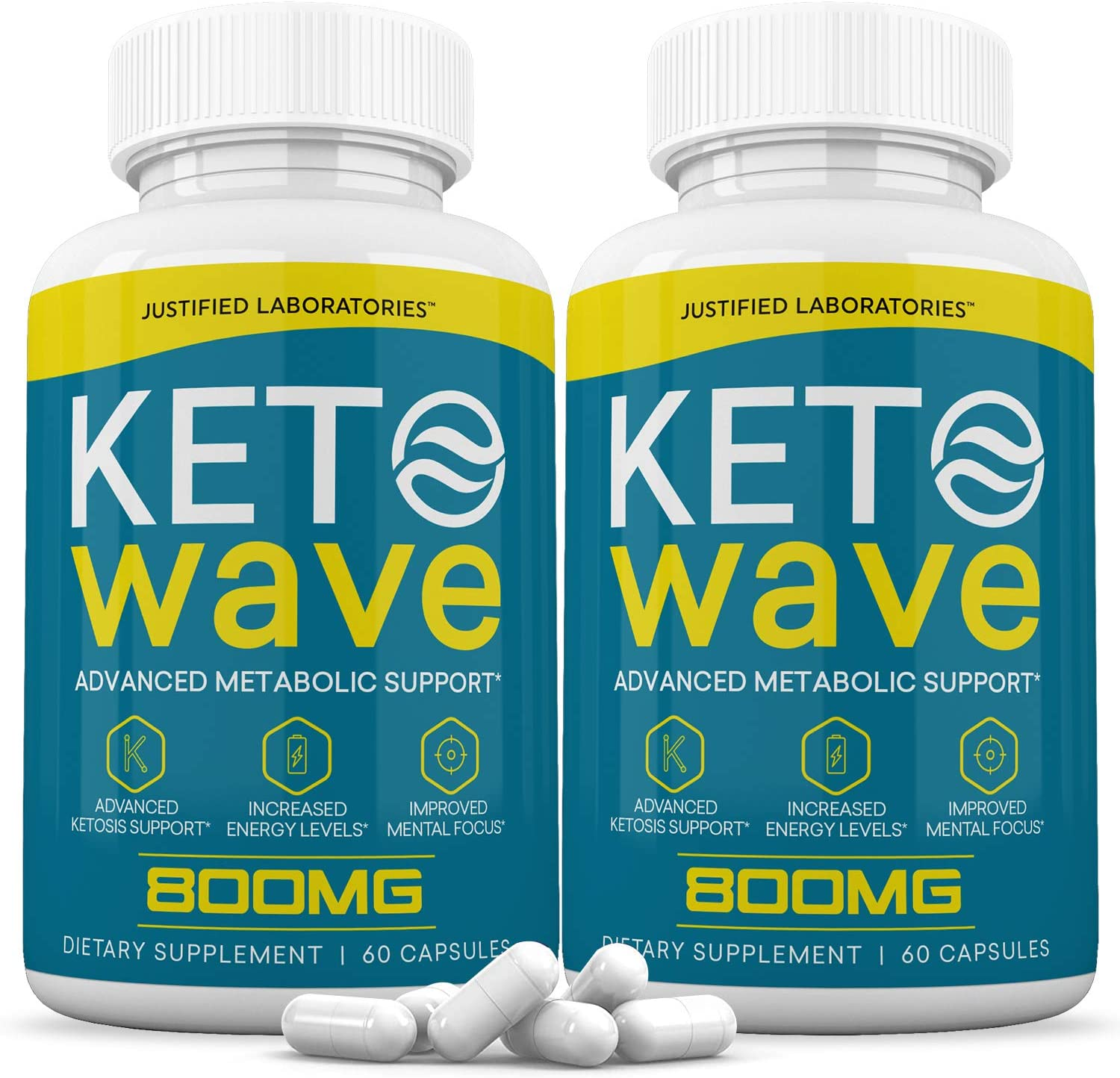 (2 Pack) Keto Wave Pills Ketogenic Supplement Includes goBHB Exogenous Ketones Apple Cider Vinegar Macadamia Nut Oil and Green Tea Advanced Ketosis Support for Men Women 120 Capsule