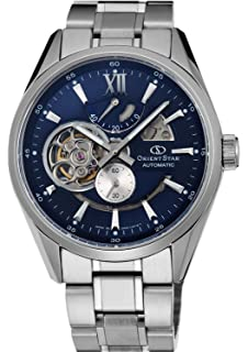 Orient Star Classic Automatic Open Heart Modern Blue Skeleton Power Reserve Watch SDK05002D